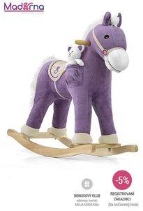Milly mally - hojdací koník pony fialový