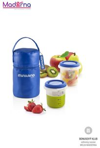 Miniland Termoizolačné puzdro + tégliky na jedlo Blue 2ks