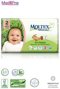 MOLTEX Ekoplienky MINI 3-6 kg 42ks