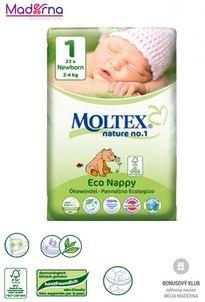 MOLTEX Ekoplienky NEWBORN 2-4 kg 23ks