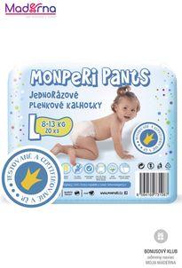 MonPeri Plienkové nohavičky L 8-13kg, 20ks/bal