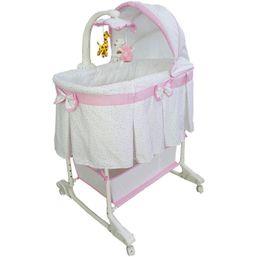 Multifunkčná kolíska Milly Mally Sweet Melody simple pink - Ružová