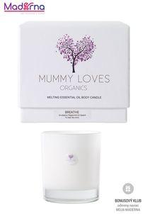 Mummy Loves Organics Esenciálna olejová telová sviečka Breathe