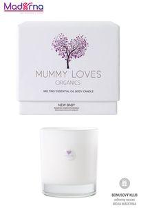 Mummy Loves Organics Esenciálna olejová telová sviečka New Baby