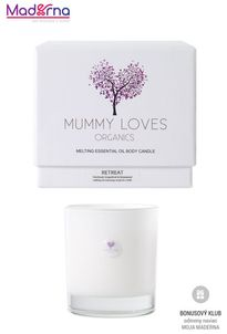 Mummy Loves Organics Esenciálna olejová telová sviečka Retreat