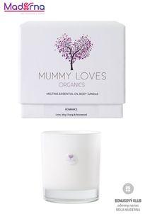 Mummy Loves Organics Esenciálna olejová telová sviečka Romance