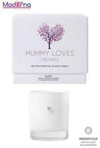 Mummy Loves Organics Esenciálna olejová telová sviečka Sleep