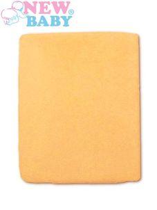 Nepremokavé prestieradlo New Baby 120x60 - Oranžová