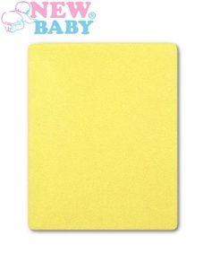 Nepremokavé prestieradlo New Baby 120x60 žlté - Žltá