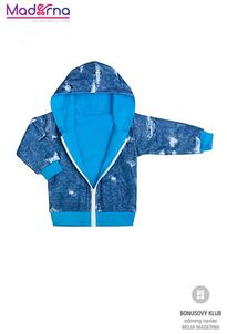 New Baby Light Jeansbaby mikinka s kapucňou modrá