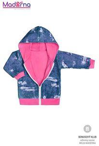 New Baby Light Jeansbaby mikinka s kapucňou ružová