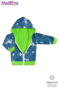 New Baby Light Jeansbaby mikinka s kapucňou zelená