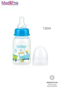Nuby Dojčenská fľaša Obrázok 120ml Vláčik