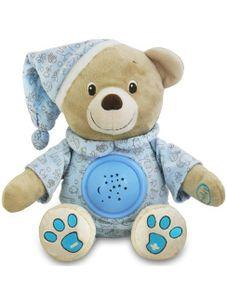 Plyšový medvedík s projektorom Baby Mix modrý - Modrá