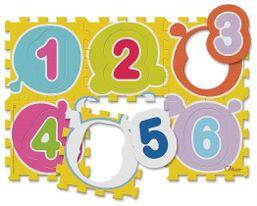 Puzzle penové Čísla 30x30cm 6ks