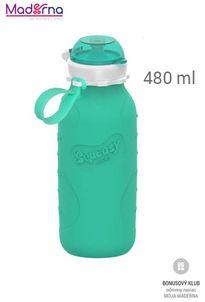 SQUEASY Gear silikónová fľaša SPORT 480ML aqua