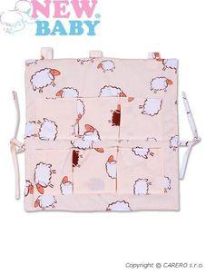 Vreckár New Baby béžový s ovečkou - Béžová