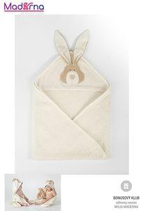 Wooly organic Bunny osuška s kapucňou 100% biobavlna