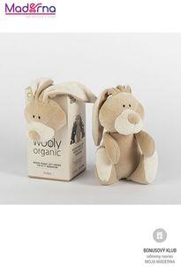 Wooly organic Bunny plyšový malý 100% biobavlna