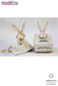 Wooly organic Bunny uspávačik s dreveným hryzátkom