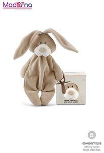Wooly organic Bunny uspávačik s klipom na dudlík 100% biobavlna
