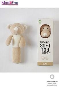 Wooly Organic Teddy hrkálka 100% biobavlna