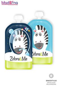 ZEBRA&ME kapsička na detskú stravu 2ks kozmonaut+zebra