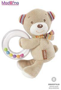 BABY FEHN Rainbow hrkálka medvedík