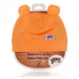Bambusová detská čiapočka orange KIKKO
