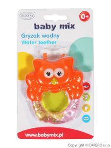 Chladiace hryzátko Baby Mix Sovička - Oranžová