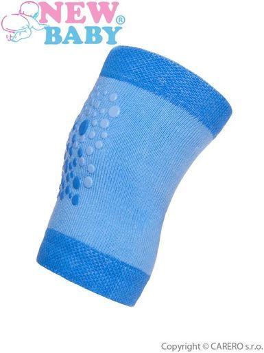 Detské nákolenníky New Baby s ABS modré - Modrá