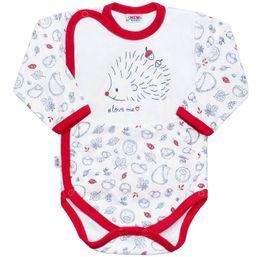 1d53098f9347 Dojčenské celorozopínacie body New Baby Hedgehog červené - Červená