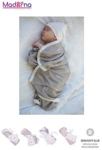 Effiki Obojstranná deka 80 x 100 cm zajačiky s bodkami