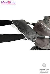 Emitex rukávnik na kočík, čierno-biely