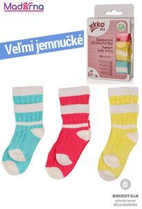 Kikko Ponožky XKKO BMB Stripes for Girls 5x3 páry