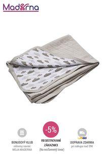 LODGER - Dreamer Quilt bavlnená deka - Shell 100x150 cm