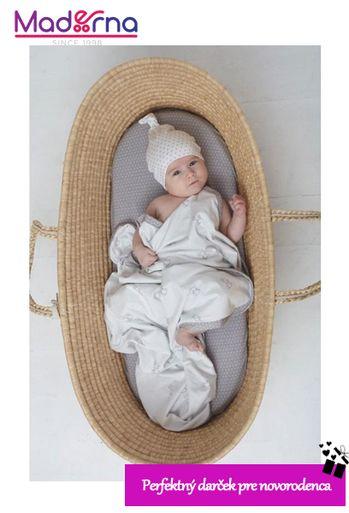 Novorodenecká čiapka biela so šedými bodkami 0-1 mes