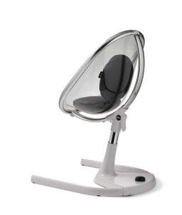 Stolička MOON chróm / priehľadná Mima