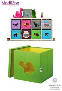 STORE IT Box na hračky s okienkom korytnačka