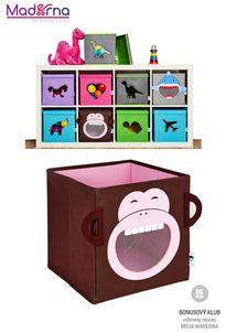 STORE IT Box na hračky s okienkom opica