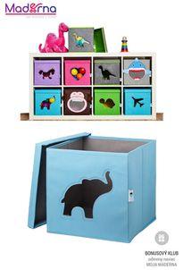 STORE IT Box na hračky s okienkom slon