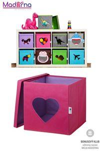 STORE IT Box na hračky s okienkom srdce