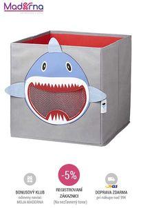 STORE IT - Box na hračky so sieťkou žralok