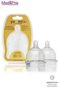 YOOMI Cumlíky na dojčenskú fľašku Fast Flow 2 ks