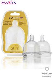 YOOMI Cumlíky na dojčenskú fľašku Slow Flow 2 ks
