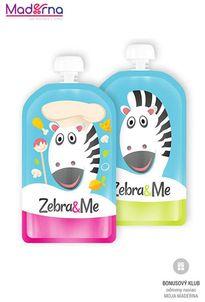 ZEBRA&ME kapsička na detskú stravu 2ks kuchár+zebra