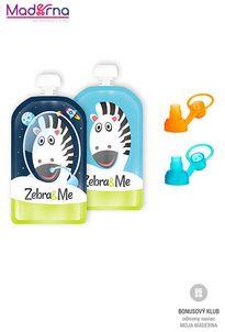 ZEBRA&ME set kapsičky na detskú stravu 2ks + náustky kozmonaut