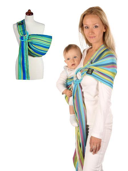 Šatka na nosenie detí Womar Hug Me - Zelená - MADERNA.sk bf01af137a